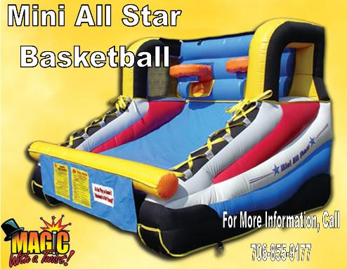 Mini All Star Basketball1 | Inflatable Interactive Rental Games