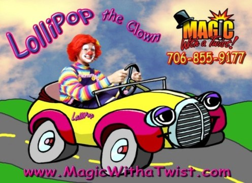 lollipop driving | Clown Parties